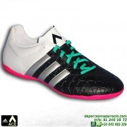 Adidas ACE BLANCO-NEGRO zapatilla futbol sala 15.4 AF5042 bota James Kroos Koke Rakitic indoor personalizar