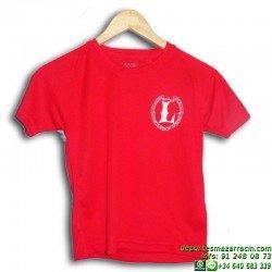 Camiseta ROJA para las competiciones Lerena uniforme colegio valdemoro