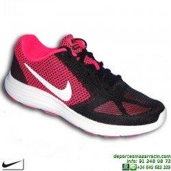 NIKE WMNS REVOLUTION 3 Zapatilla RUNNING Mujer Negro-Rosa 819303-600 deporte running training correr personalizar