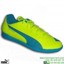 Puma EVOSPEED 5.4 Niño AMARILLO Zapatilla futbol sala 103294-04 personalizar