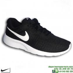 Nike TANJUN Negro-Blanco Sneakers Chica estilo ROSHE RUN 818381-011