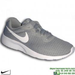 Nike TANJUN Gris-Blanco Sneakers Chica estilo ROSHE RUN 818381-012