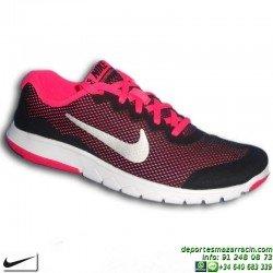 Nike FLEX EXPERIENCE 4 Chica Negro-Rosa Zapatilla Deporte 749818-001