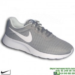 Nike TANJUN Gris-Blanco Sneakers MUJER ROSHE RUN 812665-010