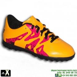 Adidas X para niños AMARILLA 15.4 TURF zapatilla futbol S74611 bota Bale Luis Suarez Marcelo SOCCER personalizar
