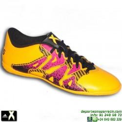 Adidas X futbol SALA AMARILLA 15.4 zapatilla S74602 bota Gareth Bale Luis Suarez Marcelo benzema personalizar