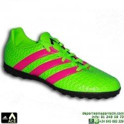 Adidas ACE para niños VERDE 16.4 TURF AF5079 bota futbol zapatilla JUNIOR James Kroos Koke Rakitic personalizar
