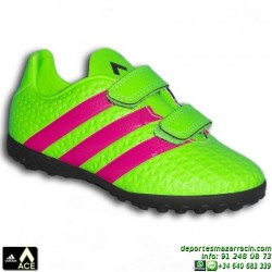 Adidas ACE para niños VELCRO VERDE 16.4 TURF AQ5807 bota futbol zapatilla JUNIOR James Kroos Koke Rakitic SOCCER personalizar