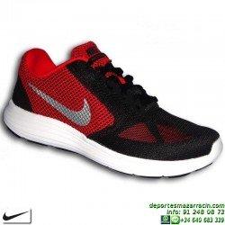 Nike REVOLUTION 3 Negro-Rojo Zapatilla Deportiva 819300-600 HOMBRE