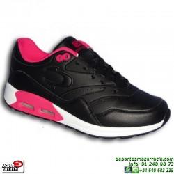 Deportiva AIR MAX Mujer John Smith RISEN L W piel negra sneakers Nike Classic BW