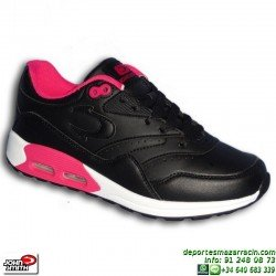 Deportiva AIR MAX Mujer John Smith RISEN L W piel negra sneakers Nike Classic BW