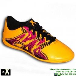 Adidas X niños Naranja 15.4 zapatilla futbol SALA S74605 Bale