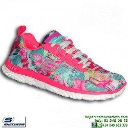 Skechers FLEX APPEAL FLORAL BLOOM Calzado Mujer Memory Foam 12061/PKMT