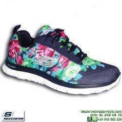 Skechers FLEX APPEAL WILD FLOWERS Calzado Mujer Memory Foam 12448/NVMT