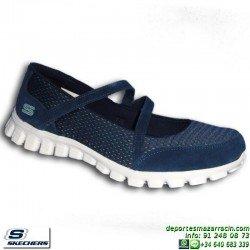 Skechers EZ FLEX 2 A GAME Azul Marino Calzado Mujer Memory Foam 22683/NVAQ