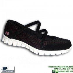 Skechers EZ FLEX 2 A GAME Negro-Rosa Calzado Mujer Memory Foam 22683/BKHP