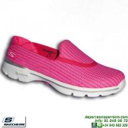 Skechers GOWALK 3 Rosa Mocasin Mujer Slip-ON Memory Foam 13980/HPK
