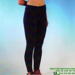 Malla Larga Lycra Supplex Leggin Negro