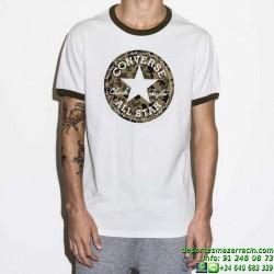 Camiseta Converse Men's Coated Camo Tee 14104C-A01 Blanca all star