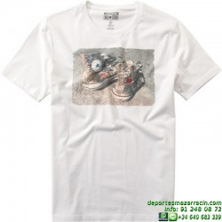 Camiseta Converse All Star Zapatillas 14100C-A02 Blanca hombre