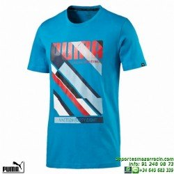 Camiseta Puma FUN DRY GRAPHIC TEE 836513-10 Azul