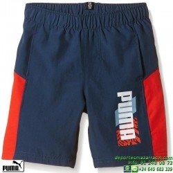 Pantalon Corto Junior PUMA Fun IND Woven Bermuda 836709-12 Marino