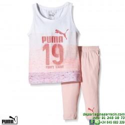 Conjunto Niñas Camiseta y Short deportivo Puma Style Minicats 836776-02 rosa
