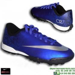 Nike MERCURIAL VORTEX CR NIÑO Cristiano Ronaldo 684858-404 Futbol turf
