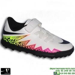 Nike HYPERVENOM PHADE Velcro Niño Neymar Microtaco Futbol Turf 749909-108 Blanco