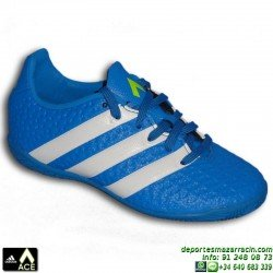 Adidas ACE 16.4 IN Azul NIÑO Zapatilla Futbol Sala AF5045 bota James Kroos Koke Rakitic 2016