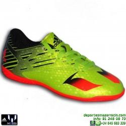 Adidas MESSI 15.4 NIÑOS VERDE-NEGRO Zapatilla Futbol Sala S74702 JUNIOR