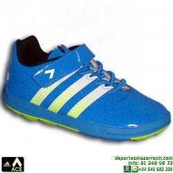 Adidas ACE INFANT AZUL VELCRO Zapatilla Futbol Niños