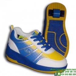 ZAPATILLA Con RUEDAS Beppi Blanco-Azul Niño junior Heelys
