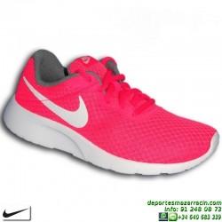 Nike TANJUN Rosa-Blanco Sneakers Chica estilo ROSHE RUN 818384-610 mujer