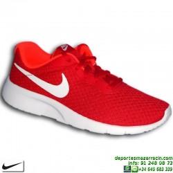 Nike TANJUN Rojo-Blanco Sneakers estilo ROSHE RUN 818384-616 chico chica