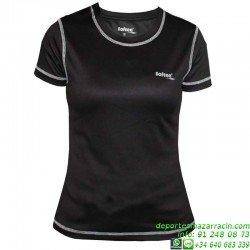 Camiseta TECNICA Mujer Niña DRY Negro Economica deporte manga corta