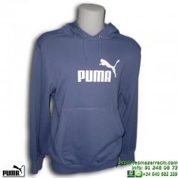 Sudadera PUMA LARGE LOGO HOODED SWEAT 802340-09 Azul Hombre sportwear