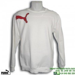 Sudadera Puma de chico CAT GRAPHIC SWEAT 805088-02 Blanca junior niño