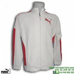 Sudadera Puma de chico SWEAT JACKET blanca cremallera algodon junior