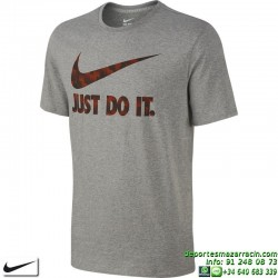 Camiseta NIKE Ultra JUST DO IT Gris 779708-063 Hombre manga corta Algodón