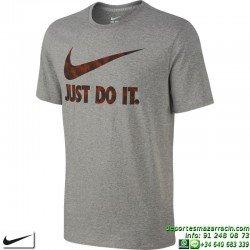 Camiseta NIKE Ultra JUST DO IT Gris 779708-063 Hombre manga corta Algodón