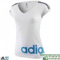 Camiseta Mujer ADIDAS RL TEE Blanco F49124 manga corta
