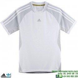 Camiseta Deporte Adidas YB C TEE Blanco Junior Z21657 climacool