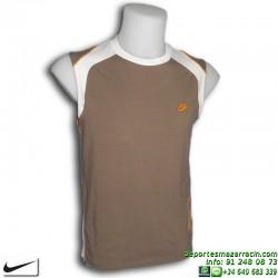 Camiseta Sin mangas NIKE SELVELESS Logo Marron Hombre 268651-210 Algodón