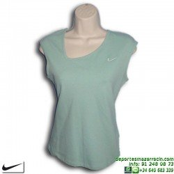 Camiseta Sin Mangas Mujer NIKE Verde 298155-311 algodon PIKE