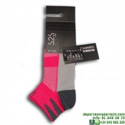 Calcetin Tecnico Mujer LURBEL BIS Negro-Rosa 2401 sock running
