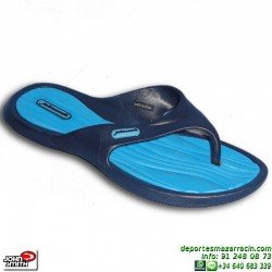Chancla Mujer John Smith PILER 16V Sandalia azul Marino Royal piscina playa chica