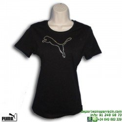 Camiseta Chica PUMA BLINK TEE Negra 815476-02 algodon