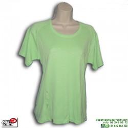 Camiseta Deporte Mujer John Smith ALTEA Verde manga corta poliester