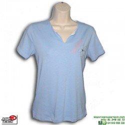 Camiseta Mujer John Smith ESTEVEZ Azul Ceslete manga corta algodon